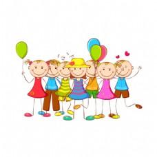 卡通儿童气球元素