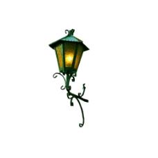 复古花式路灯元素