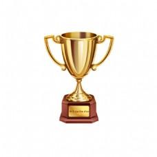 金色奖杯元素