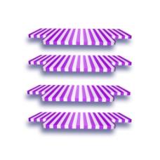 紫白条纹几何元素