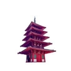 手绘中式建筑元素