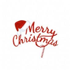 圣诞快乐艺术字体png元素
