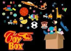 玩具箱矢量背景