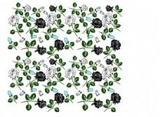 绿色玫瑰花数码服装印花