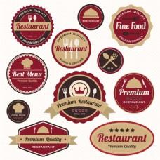 复古餐厅商标设计