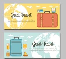 旅游旅行矢量素材banner