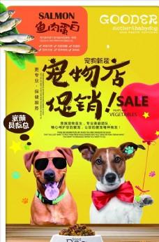 宠物店促销活动海报