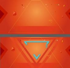 三角橙色背景