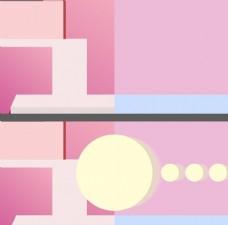 粉色几何背景