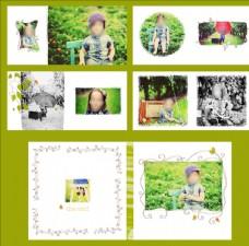 青葱岁月儿童相册摄影模板
