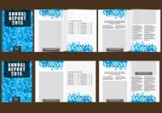 蓝色格子背景时尚宣传画册
