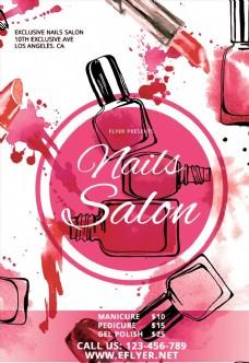 粉色系化妆品海报