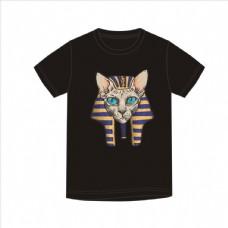 埃及壁画小猫矢量图下载