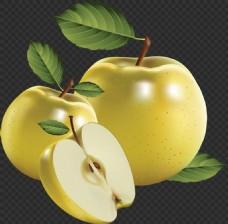 手绘逼真的绿苹果图片免抠png透明素材
