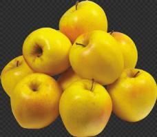 一堆黄苹果图片免抠png透明图层素材