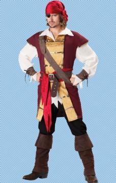 叉腰的海盗免抠png透明图层素材