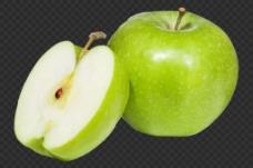 切开的苹果图片免抠png透明图层素材