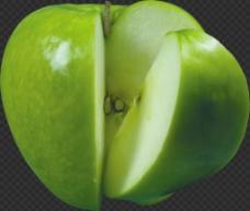 漂亮切开的苹果图片免抠png透明图层素材