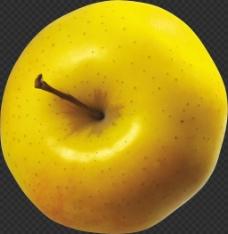 写实黄苹果图片免抠png透明图层素材