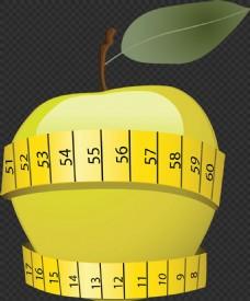 数字标签苹果图片免抠png透明图层素材