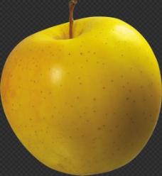 黄颜色苹果图片免抠png透明图层素材