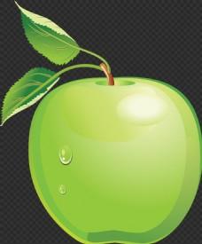 漂亮手绘绿苹果图片免抠png透明图层素材