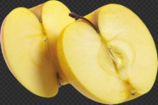 被切开的苹果免抠png透明图层素材