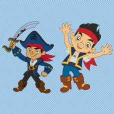 可爱卡通小海盗免抠png透明图层素材