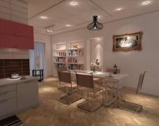 现代3D厨房设计