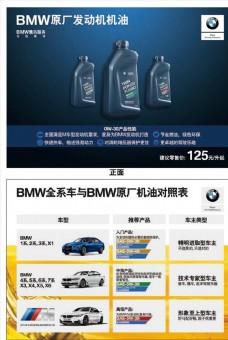 BMW机油销售桌卡