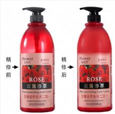 花清香玫瑰洗沐二合一产品图精修