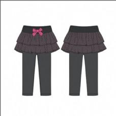 秋冬裙裤假两件