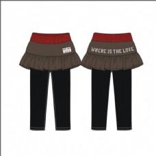 秋冬女童短裙裤