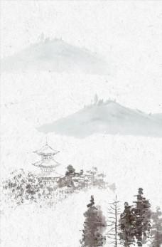 中国风山水水墨背景