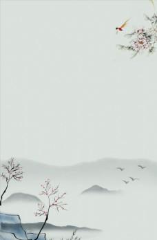 水墨中国风海报背景