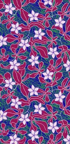 植物花朵花卉四方连续底纹