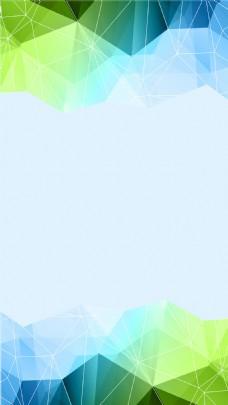 蓝色渐变几何三角H5背景素材