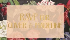 欧式复古花卉婚礼请柬邀请贺卡片