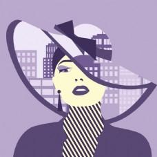 城市时尚女人插图