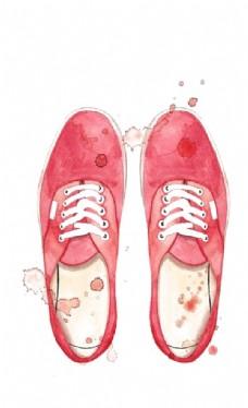 水彩帆布鞋