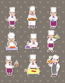 卡通可爱的厨师插画