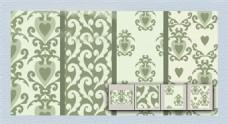 淡绿色装饰图案