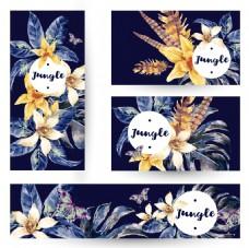 手绘复古花朵背景