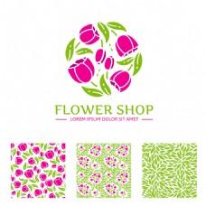 清新植物花朵背景