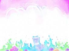 矢量韩国手绘背景