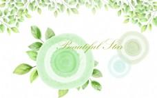 绿色创意时尚花纹