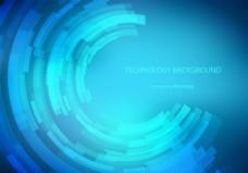 蓝色商务科技感背景素材