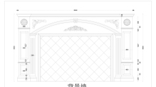 背景墙电视墙CAD设计图纸