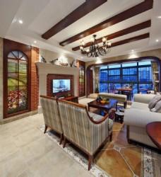 简约美式客厅装修效果图