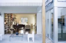 简约蓝色系列室内设计客厅效果图